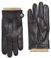 MANGO Wool-lining leather gloves