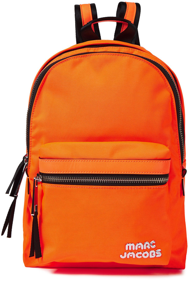 Marc Jacobs Faux Leather-trimmed Shell Backpack
