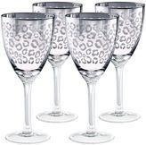 Artland Leopard 4-pc. Wine Glass Set
