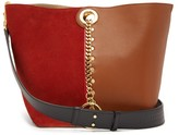 See by Chloe Gaia Colour-block Suede And Leather Tote Bag - Womens - Red Multi