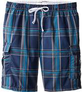 U.S. Polo Assn. Men's Big and Tall Basic Plaid Swim Cargo