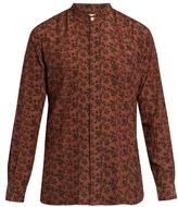 Paul Smith Floral-print Granddad-collar Shirt