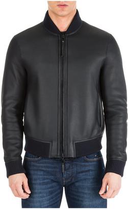 Emporio Armani Noir De Noir Leather Jackets