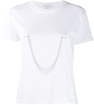Collina Strada pierced chain T-shirt