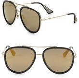 Gucci 57MM Mirrored Aviator Sunglasses
