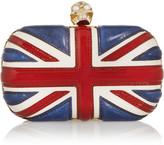 Alexander McQueen The Britannia Skull Leather Box Clutch - Red