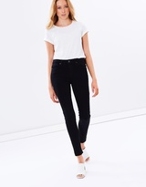 Paige Hoxton Ultra Skinny Black Shadow Jeans