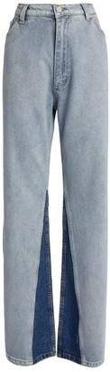 Natasha Zinko Wide-Leg Tonal Jeans