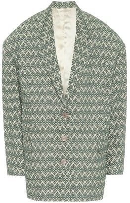 Acne Studios Cotton-blend jacquard blazer