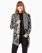 Charming charlie Oversized Printed Cardigan