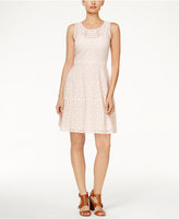 Tommy Hilfiger Lace Sleeveless A-Line Dress