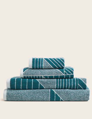 Marks and Spencer Pure Cotton Geometric Print Towel
