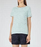 Reiss Rayee Lace T-Shirt
