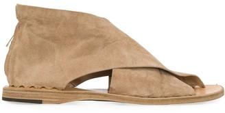 Officine Creative Suede Open Toe Sandals