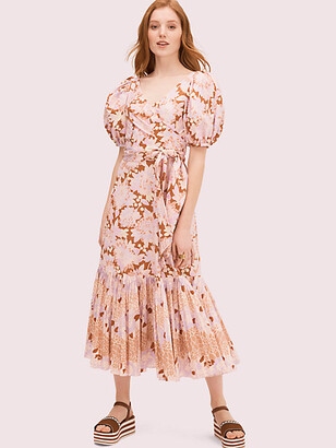 Kate Spade Exotic Bloom Poplin Dress