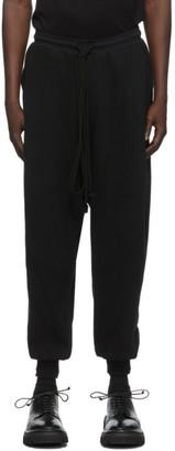 Julius Black Rib Knit Lounge Pants