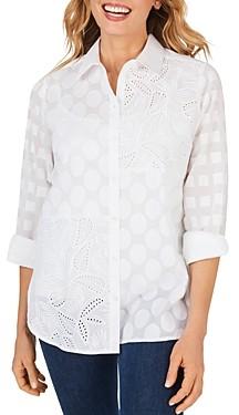 Foxcroft Maven Cotton Textured Tunic