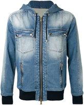Balmain hooded denim jacket - men - Cotton/Spandex/Elastane - M