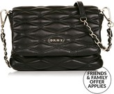DKNY Mini Flap QuiltedLeather Cross-Body Bag