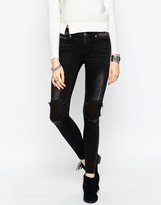 Noisy May Lucy Super Skinny Fit Studded Jeans 32