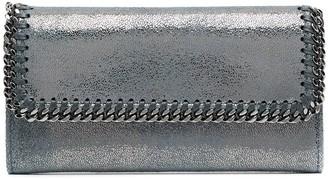 Stella McCartney Falabella metallic long wallet