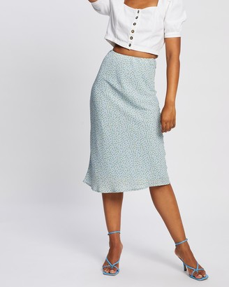 All About Eve Women's Blue Midi Skirts - Mischa Midi Skirt - Size One Size, 12 at The Iconic