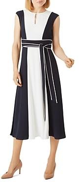 Hobbs London Rae Color-Blocked Midi Dress