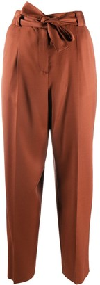Pt01 Tie-Waist Cropped Trousers