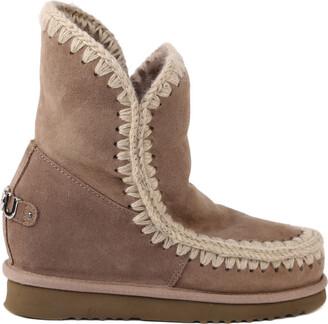 Mou Eskimo Ineer Wedge Boots In Double-face Sheepskin