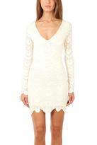 Nightcap Clothing Deep V Spanish Lace Dress