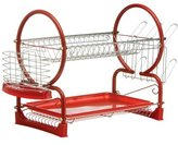 Camilla And Marc Premier Housewares 2-Tier Dish Drainer - 56 cm, Red