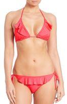 Shoshanna Ruffle Triangle Bikini Top