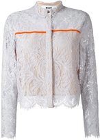MSGM lace overlay cropped jacket