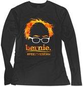 Sarah Women's Election 2016 Bernie Sanders Hair Minimalist Royal Feel The Bern Long Sleeve T-shirt S
