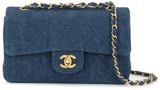 Chanel Pre Owned 1990 Double Flap 23 Shoulder Bag