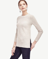 Ann Taylor Ribbed Wool Cashmere Tunic Sweater