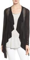Nic+Zoe Women's Ruffle Wave Linen Blend Cardigan