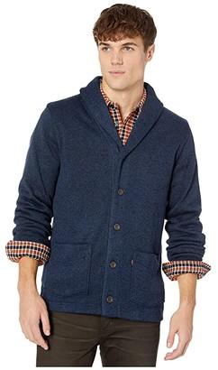 Levi's Rand Fleece Cardigan (Dress Blues) Men's Sweater