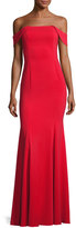 Jay Godfrey Biles Off-the-Shoulder Mermaid Gown, Red