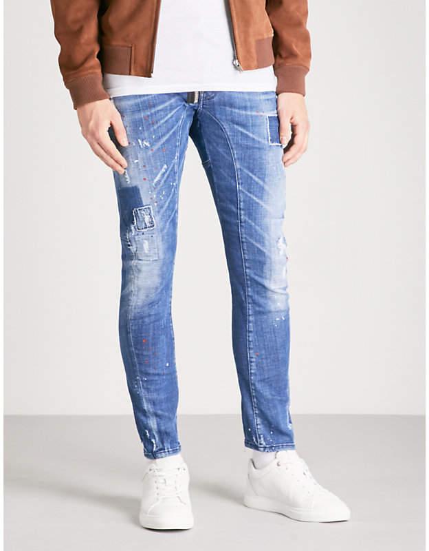 DSQUARED2 Tidy biker-patch slim-fit skinny jeans