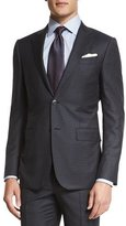 Ermenegildo Zegna Trofeo Box-Check Two-Piece Suit, Charcoal/Navy