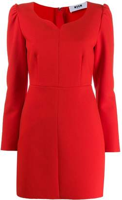 MSGM fitted sweetheart dress