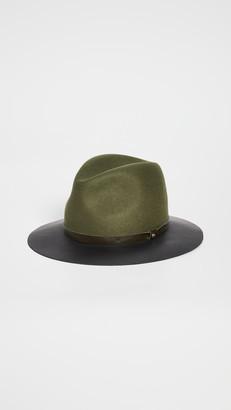 Rag & Bone Floppy Leather Brim Hat