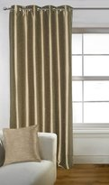 Lushomes 8 Eyelets Drapers Faux Silk Solid Window / Door Curtains