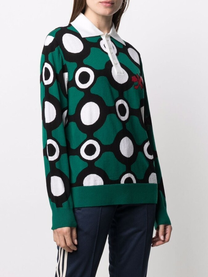 Thumbnail for your product : Charles Jeffrey Loverboy Intarsia-Knit Polo Shirt