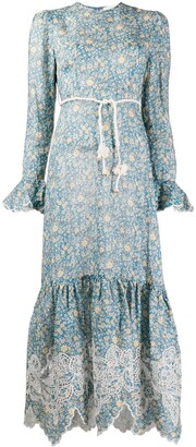 Zimmermann Carnaby Frill floral print midi dress