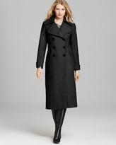 DKNY Notch Collar Maxi Coat
