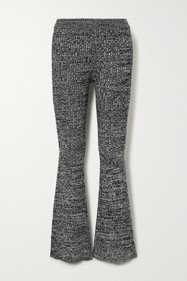 Skin Caitlin Ribbed Space-dyed Wool-blend Slim-leg Pants - Gray