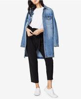 Rachel Roy Cotton Oversized Denim Jacket, Only at Macy's
