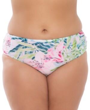 Becca Etc Plus Size Lush Lagoon Bikini Bottoms Women's Swimsuit